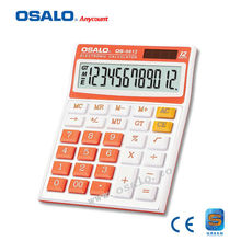 OS-9812 12 Digits Business Dual Power Calculator Solar Colorful Desktop Calculadora Office & School Hesap Makinesi Kalkulator