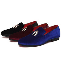 Casual Sickle Suede Men Shoes Flat Slip on Dress Shoes Casual Pointed Toe Solid Color Wedding Loafer Larg size