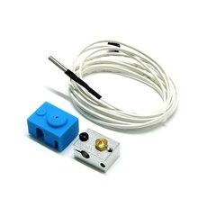 V6 нагревательный алюминиевый блок + силиконовый чехол с термистором для деталей 3D принтера Hotend Trianglelab Bltouch Titan экструдер