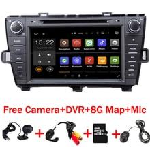 """8 """"Android 6.0 Samochodowy odtwarzacz DVD dla Toyota Prius GPS Wifi 4G Radio RDS Bluetooth USB SD Steering wheel control Wolnej Kamery DVR"""