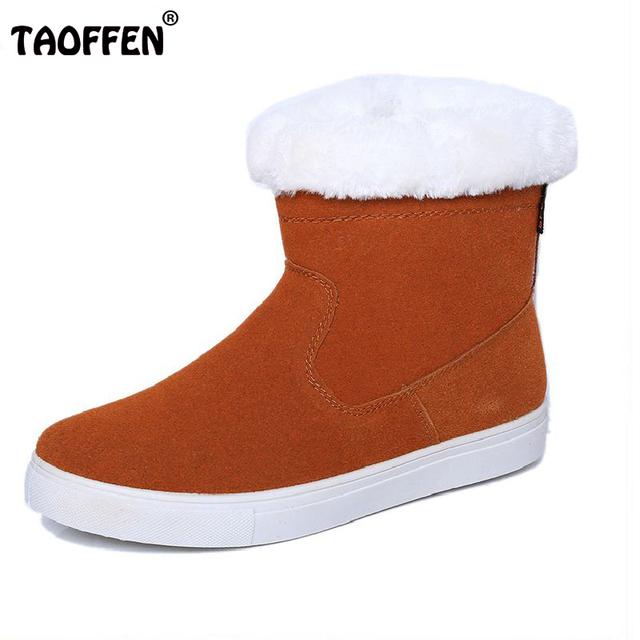 2016 Nova Chegou Rússia Neve Botas Mulheres Apartamentos Sapatos de Senhora engrossado Pele do Inverno Manter Aquecido Ankle Boot Curto Pelúcia BotasSize 35-40