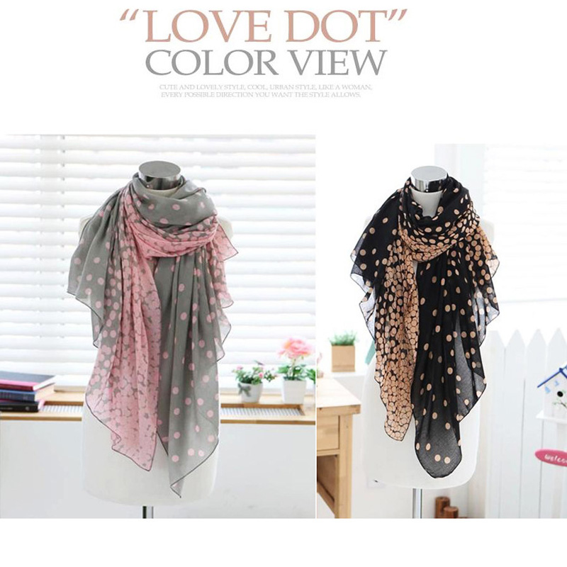 Hot Sale! za Scarf Shawls Women Scarves Za Scarfs Bali yarn Rayon Bohemian Long Print Neck scarve love dot Bandanas Warm Wrap