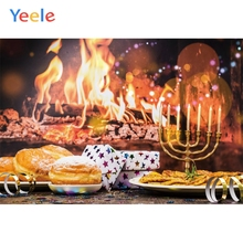 Yeele Happy Rosh Hashanah Candle Barbecue Seductive Food Fire Photographic Backdrops Photography Backgrounds For Photo Studio
