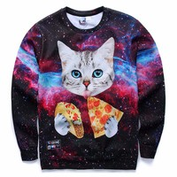 Mr 1991INC Men Women Hoodies Loose Style Print Animals Cat Panda Rainbow Trangle Cartoon 3d Sweatshirts