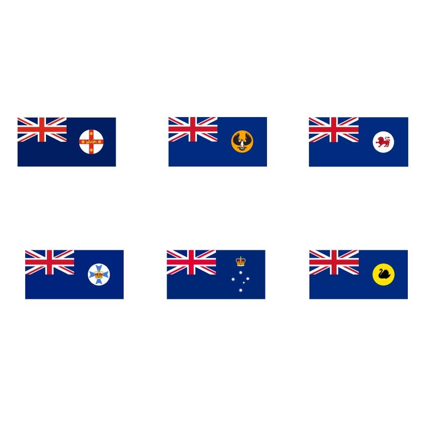 2019 Outdoor 120*180 cm 90*150 cm 60*90 cm 40*60 cm AUS Flagge, south Australia State flag, Australien Flagge mit 2 ösen