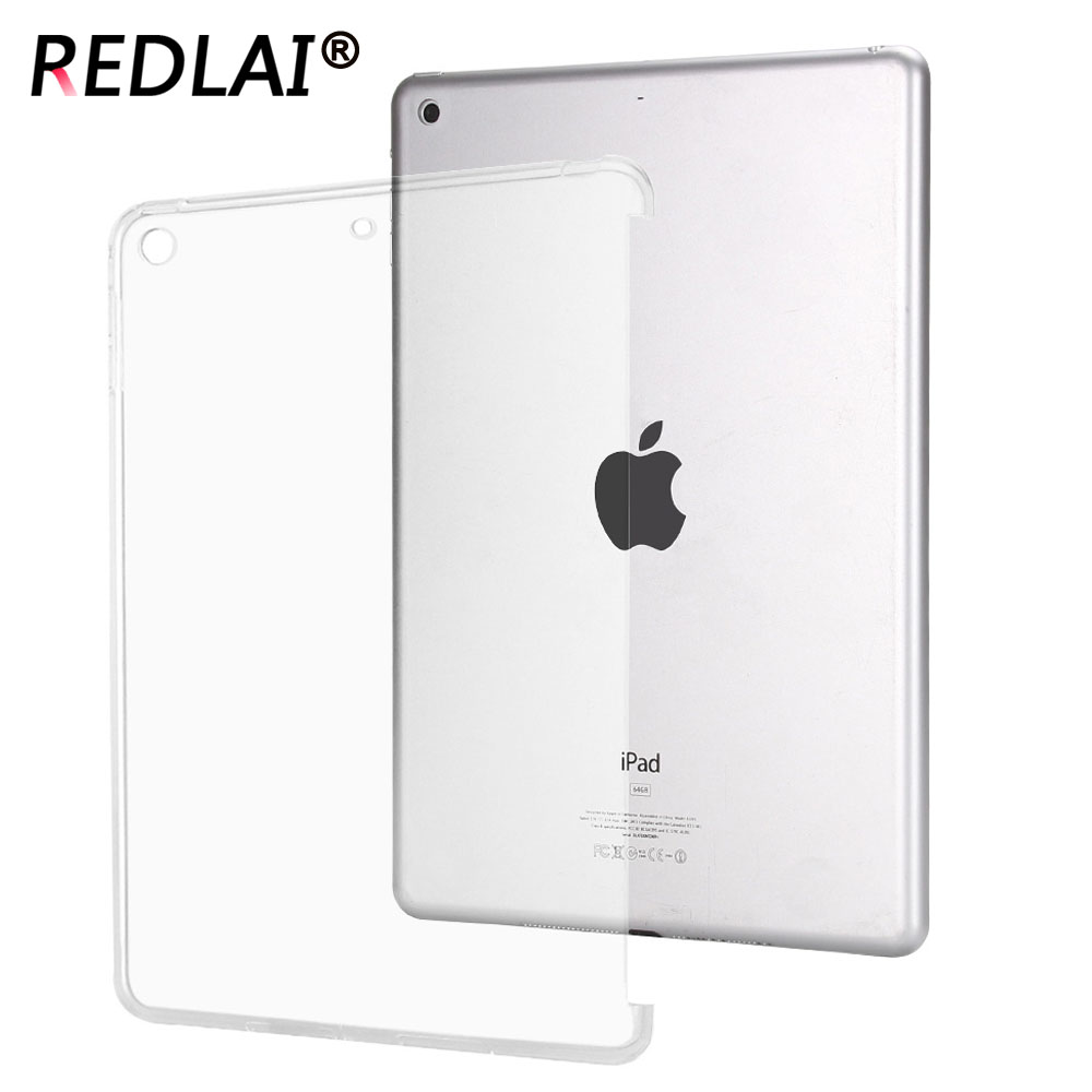Redlai For new iPad 9.7 inch 2018 A1893 , Clear Transparency trimming Side Soft TPU case for Ipad 9.7 inch 2017 release A1822 redlai for new ipad 9 7 inch 2018 a1893