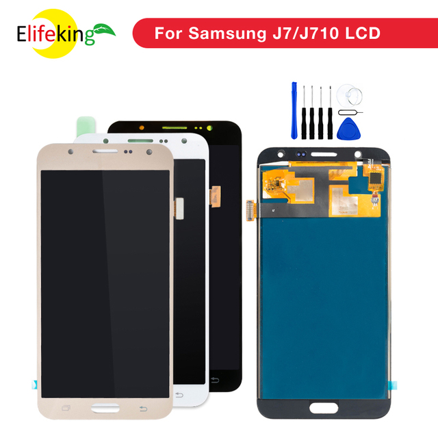 1PCS/Lot J7 Display Touch Screen For Samsung Galaxy J7 2015 J700 & J7 2016 J710 LCD Display Repalcement Digitizer Assembly Parts