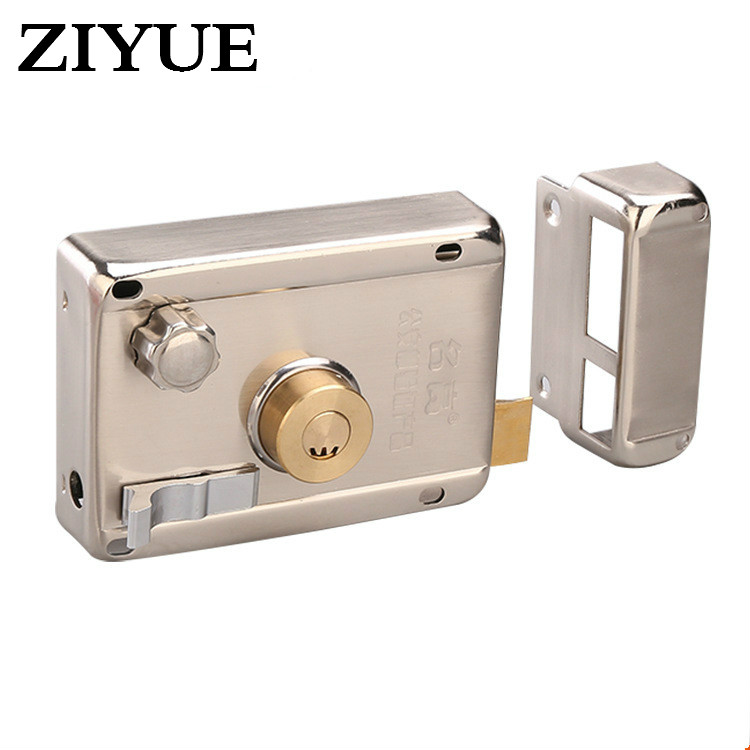 Free Shipping Stainless Steel Turn Tongue Lock Crescent Lock Core Anti - Theft Door Lock Old - Fashioned Door Lock new quality practical steel lock body 304 stainless steel anti theft lock outer door lockset dead bolt locks