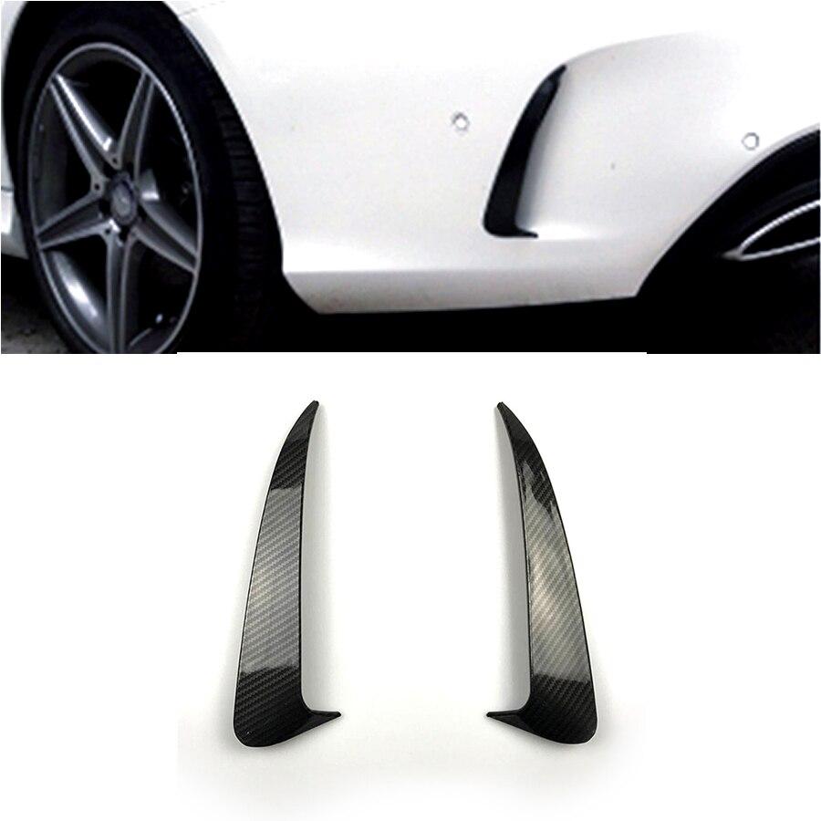 Arrière Pare-chocs D'air Autocollants Couverture Fender pour Mercedes Benz Classe C W205 Berline Sport 4 Portes Accessoires Car Styling