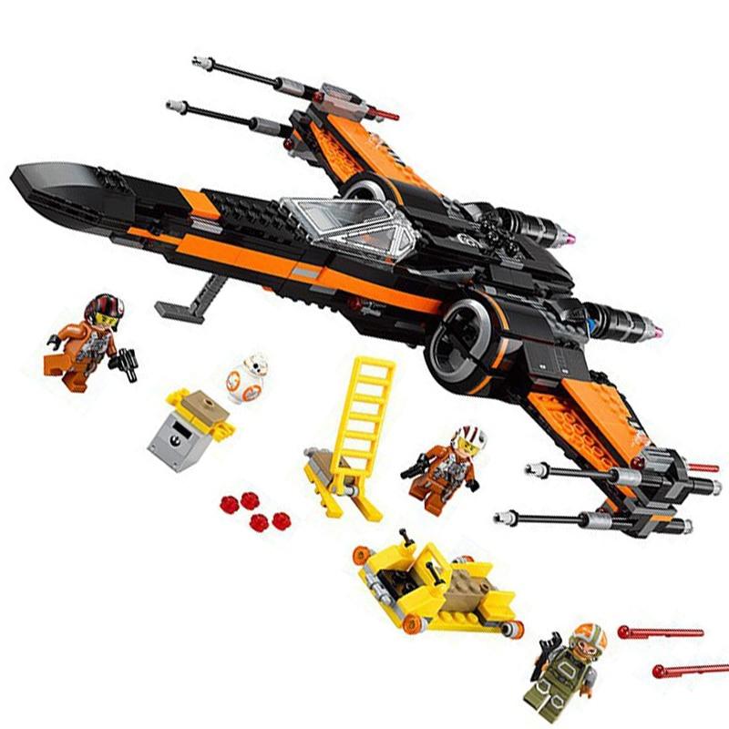 748Pcs set DIY Building Blocks Legoe city Minifigures star wars Fighter minifigures educational toys Children Gift