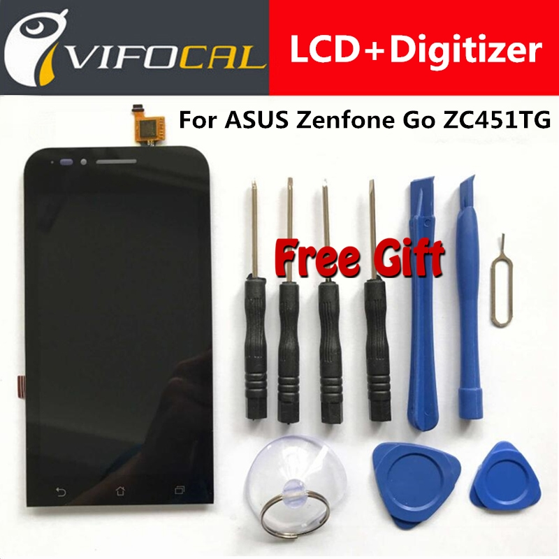 LCD Display + Touch Screen 100% New Digitizer Assembly Replacement Repair Accessories For ASUS Zenfone Go ZC451TG