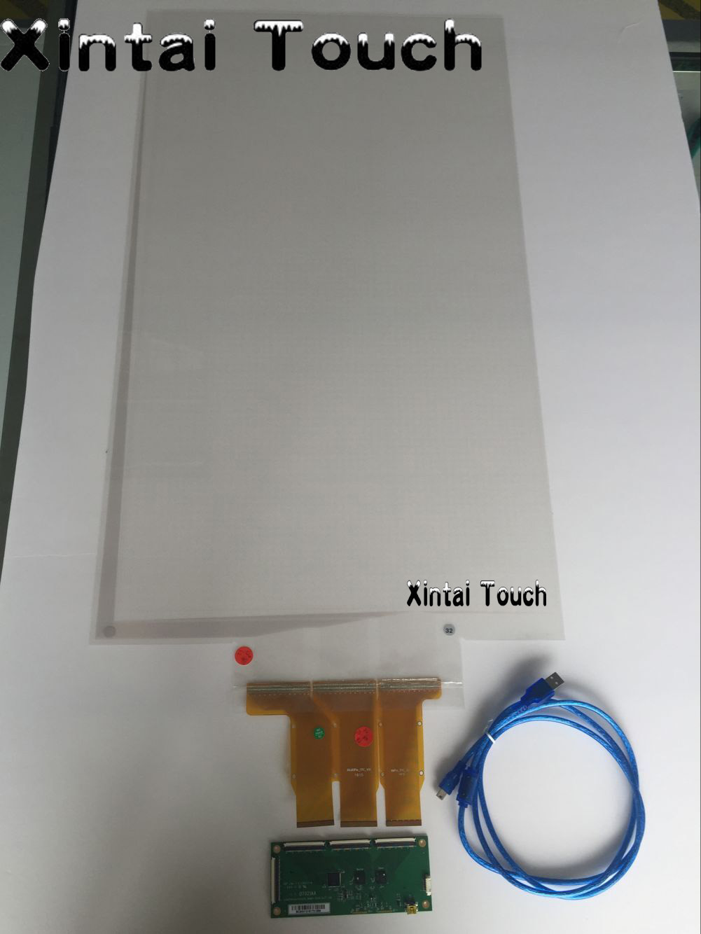 65 Transparent capacitive multi touch film 16:9 format work for kiosk, display, lcd etc