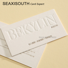 На заказ тисненая визитная карточка печать хлопок супер мягкие волосы рис белый/600 г