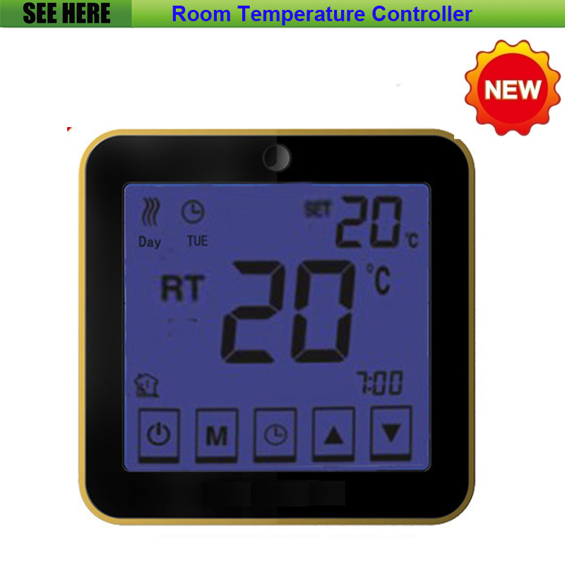 Free Shipping High Quality LCD Display Weekly Programmable Floor /Water Heating Temperature Controller Room Thermostat 230v 16a lcd display weekly programmable room floor heating thermostat for room temperature control