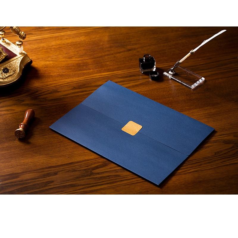 Купить с кэшбэком CUCKOO certificate/document paper envelope novelty dignified elegant three folding file sets paper envelope 3 pcs/lot