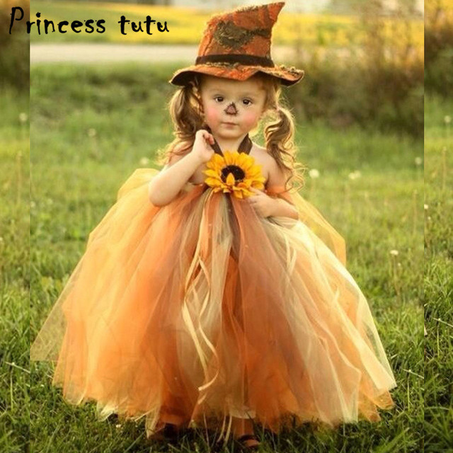 PRINCESS TUTU Flower Pumpkin Baby Girls Witch Dress Novelty Tulle Halloween Cosplay Witch Costume Girls Dress  sc 1 st  AliExpress.com : pumpkin girl costume  - Germanpascual.Com