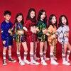 Children Jazz Dance Sequins Boys Girls Street Dance Hip Hop Costume For Kids Vest Shorts Catwalk Tide Performance Clothing Suits 2