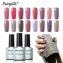 FairyGlo Gel Nail Polish 10ml Nude Color Gel Lak Color Gel Vernis Semi Permanent UV LED Lamp Soak Off Gel Polish Nail Art Design