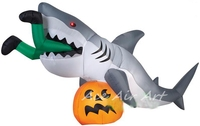 dangerous! inflatable shark attack legs pumpkin gemmy for Halloween party with free air blower
