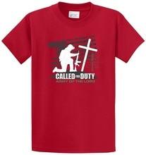 Мужские футболки с рисунком короткие Для мужчин 100% хлопок экипажа шеи печатных тройники призвал Duty печатных футболка tee
