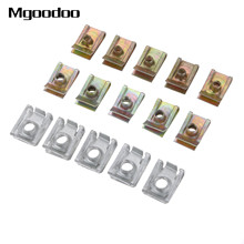 10Pcs Auto Clips M5 M6 M8 Clips Fastener Speed Metal Mounting Clamp For Car Motor Tread Panel Spire Nut Fairing Clip