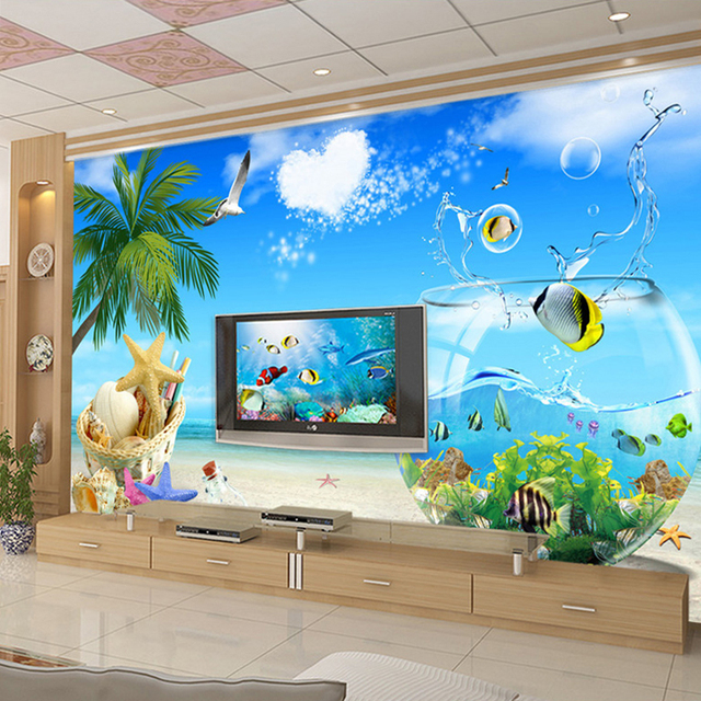 Buy high quality large custom wall for Fish tank paint