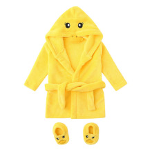 Зимние милые теплые банные халаты для маленьких мальчиков и девочек; банный халат до колена с рисунком медведя и кролика; Халат с капюшоном; пеньюар; Albornoz; одежда для сна