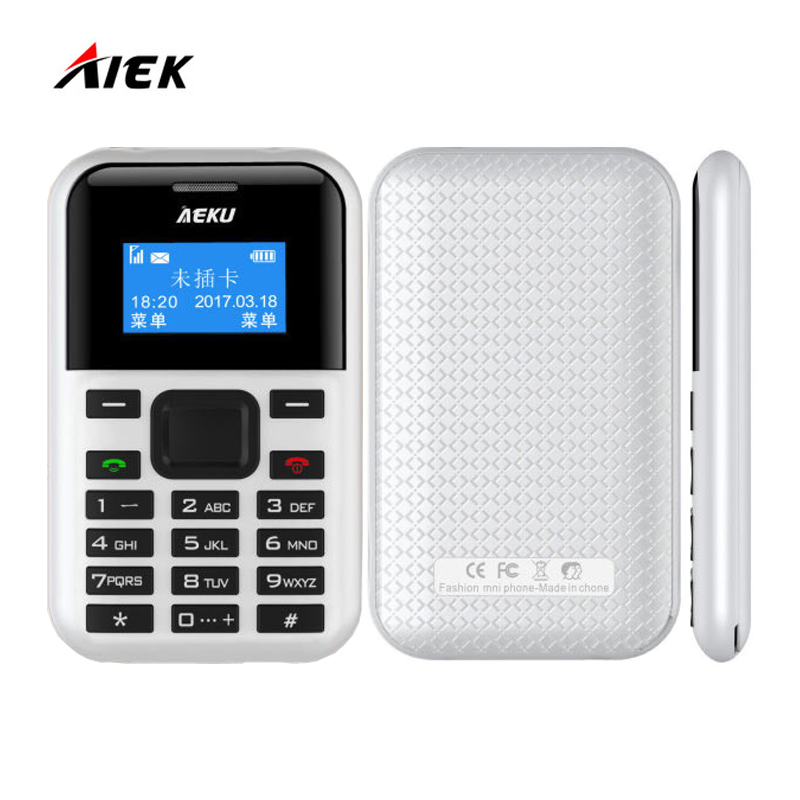 New Comer AIEK C8 AEKU C8 Low Radiation For Old Man Pregnant Women Mini Pocket Phone