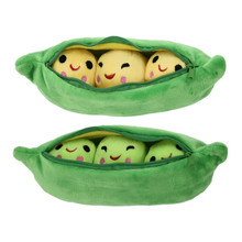 MINOCOOL 25 40CM Pea shaped Pillow Toy Cute Pea Stuffed Plant Doll Girlfriend Kawaii For Children