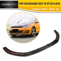 JC styling Carbon fiber front lip spoiler apron for VW Golf VII MK7 GTI Bumper 2014UP