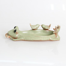 Modern Retro Frog Birds Succulent Plant Ceramic Flower Pot decorative Flowerpot Planter Nursery Indoor Desktop Pot Small Planter