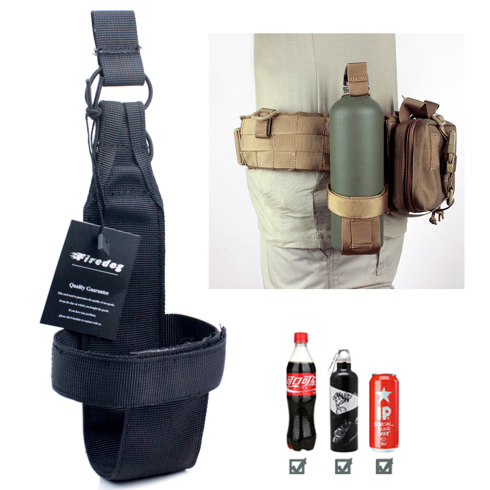 Water Bottle Holster: Tactical Molle Lightweight Water Bottle Holder Bottle