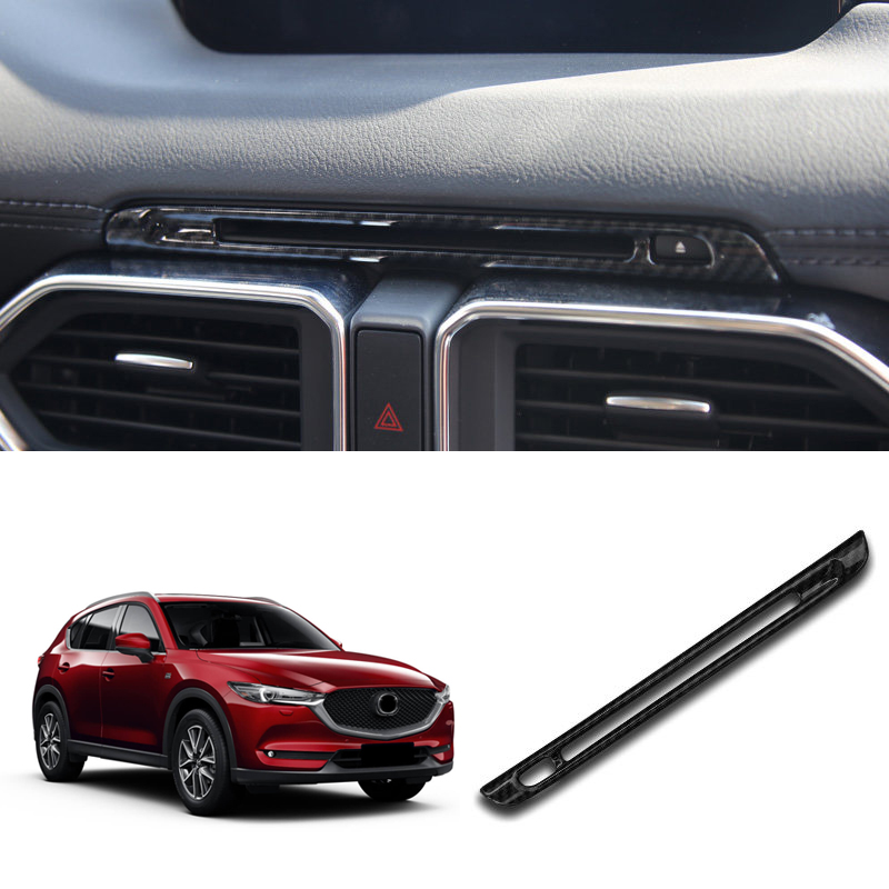 left handle !! ABS Accessories Interior Car Middle CD Center Control Decoration Stripe Trim 1pcs for Mazda CX-5 CX5 2017 2018 for left hand drive car styling interior matte center console decoration cover 3 for mazda cx 5 cx5 2nd gen 2017 2018