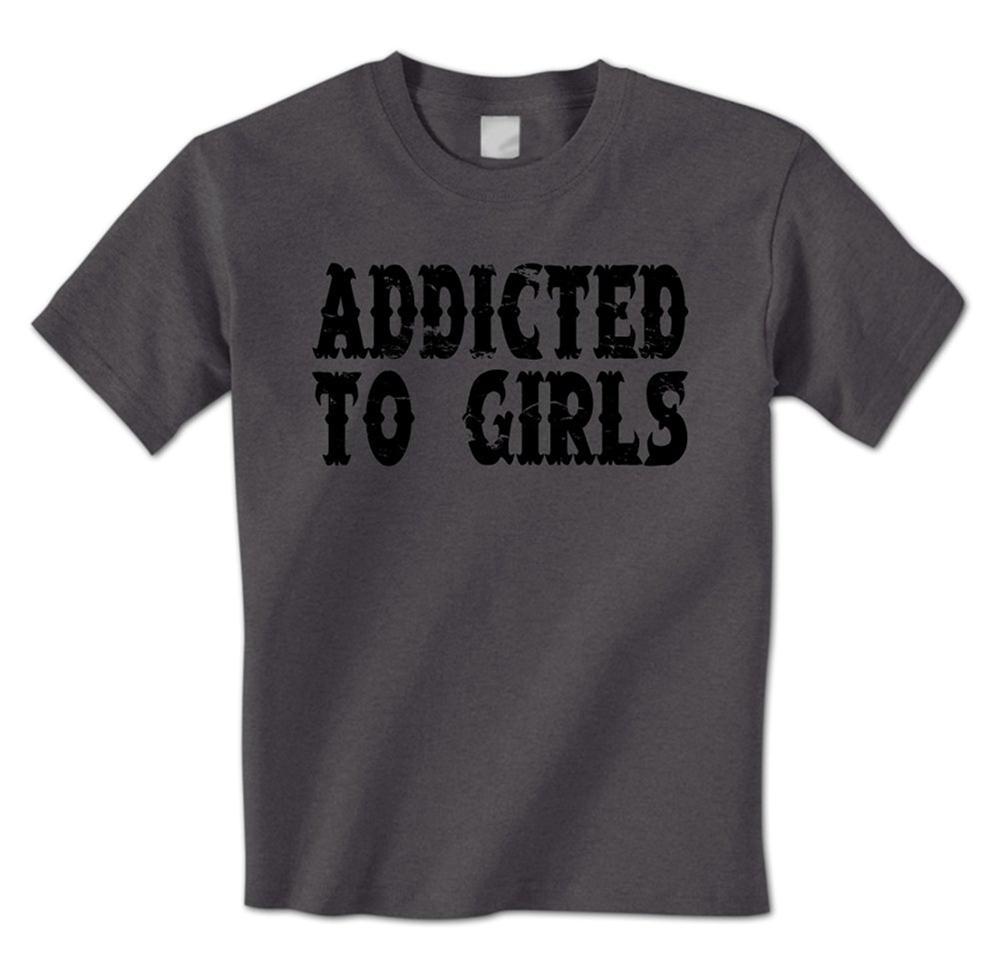 5f2ba048c man t shirt Addicted To Girls - Sex Addict Funny Ladies Man Hook Up Mens T- Shirt