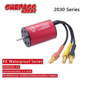 Waterproof 2030 2.0mm 4500KV 6200KV 6500KV 7200KV 2S Brushless Motor for 1/20 1/18 GTR/Lexus RC Drift Racing Car Truck Parts(China)