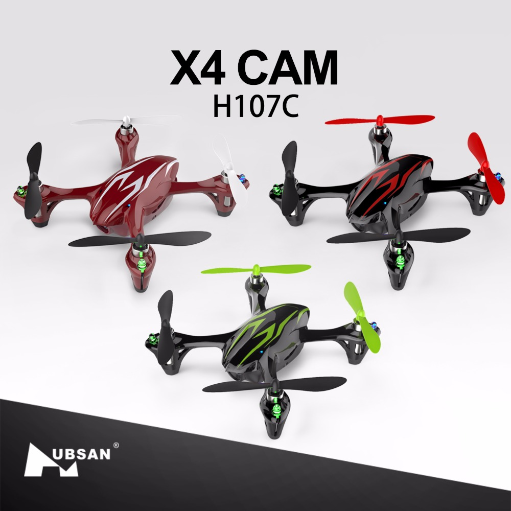 Original Hubsan H107C X4 CAM 2.4G 4CH RC Quadcopter Helicopter Drone RTF with HD Camera LED Lights Remote Control Toys hubsan x4 cam plus h107c rc quadcopter with 720p camera rtf aluminum box handbag propeller guard spare parts kit f16766 abcd