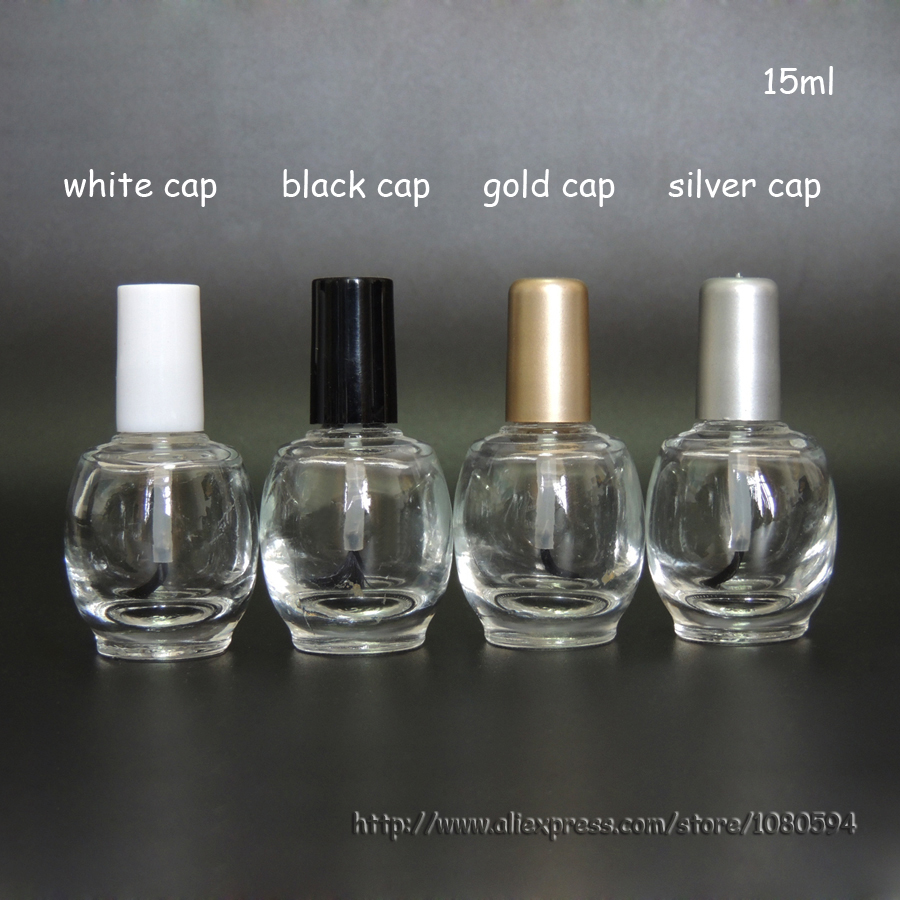 How To Empty A Nail Polish Bottle: 15ml Clear Ball Nail Polish Oil Bottle Cap With Brush Nail