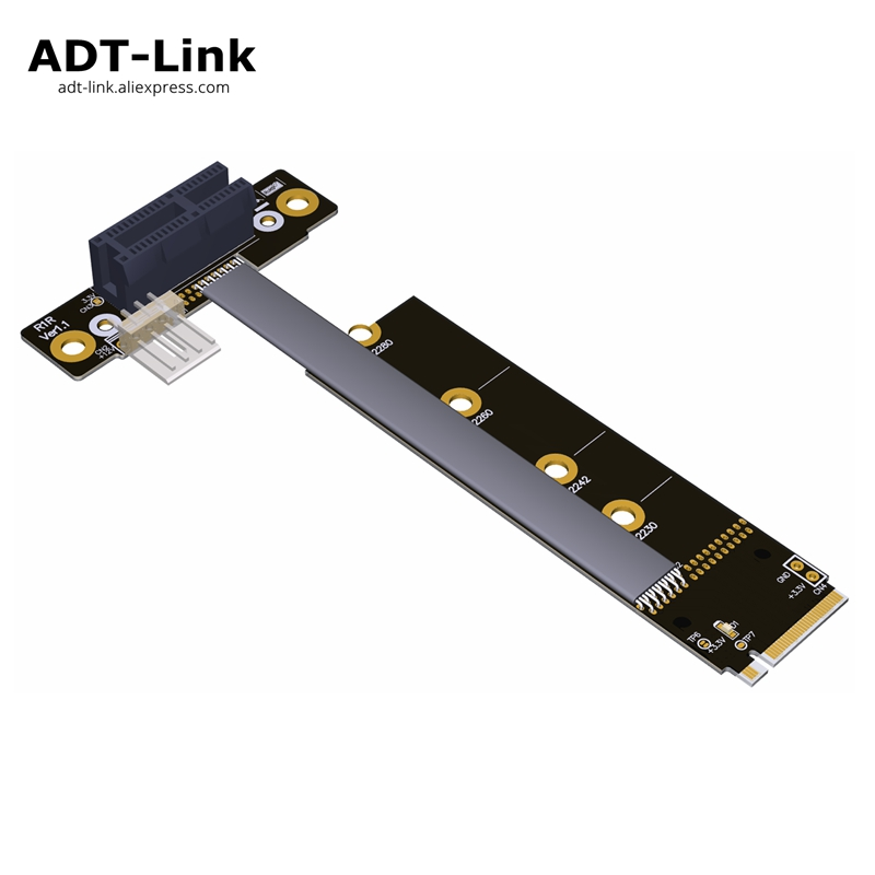 M.2 NVMe To PCIe 1x 16x Riser X11050ti 1060ti 1080ti RX580 video Graphics Card Extender cable For NVIDIA AMD A N Card Btc Miner image