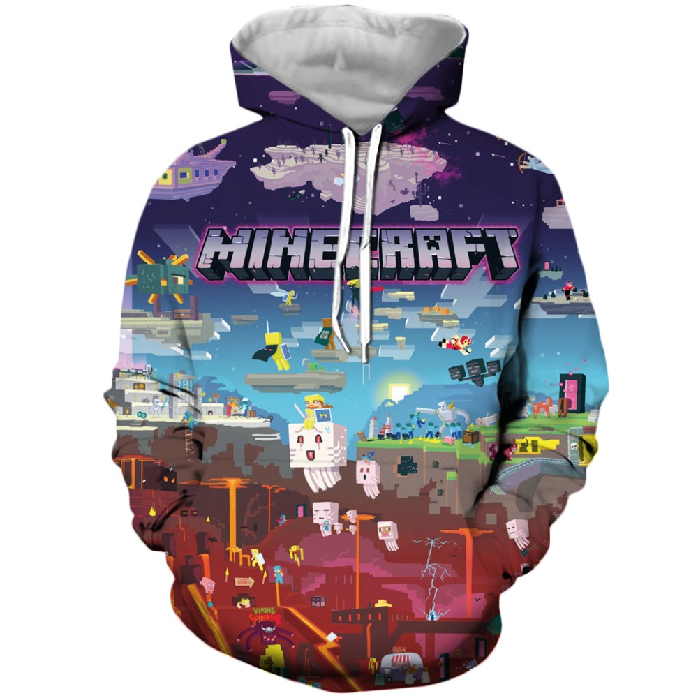 New Fashion Plstar Cosmos Drop Shipping 2019 New Fashion Men Hoodies Sandbox Games Minecraft World 3d Print Unisex Casual Hooded Sweatshirt Finely Processed Men's Clothing