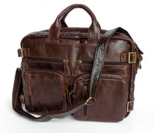 Vintage Tan Leather Men's Trendy Shoulder Backpack Bag Travelling Bag # 7026Q