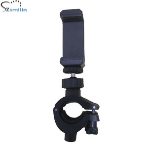 Image 2 - Top Selling Portable Music Mic Microphone Stand Smart Phone Holder Mount Clamp for Pole Tube Bicycle Handlebar Mounting Bracket