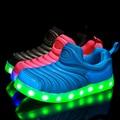 2016 de primavera y verano zapatos del bebé zapatos caterpillar niño niña colorida LLEVÓ luces luz hasta Los Zapatos 21-30