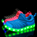 2016 spring summer baby boy shoes light child shoe caterpillar colorful baby girl LED lights up Shoes 21-30