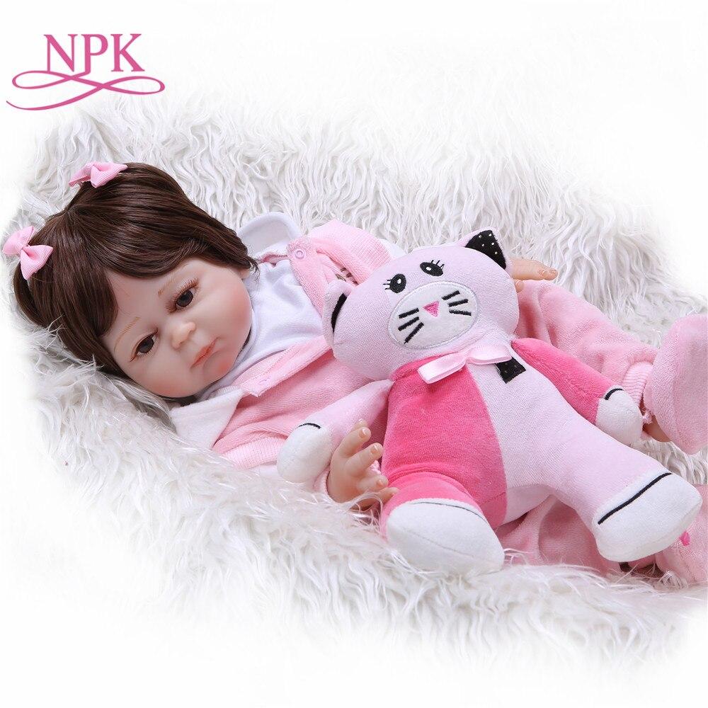 NPK New Arrival 48cm Full Silicone Baby Doll Handmade Reborn Babies Lifelike Girl Body For Kids