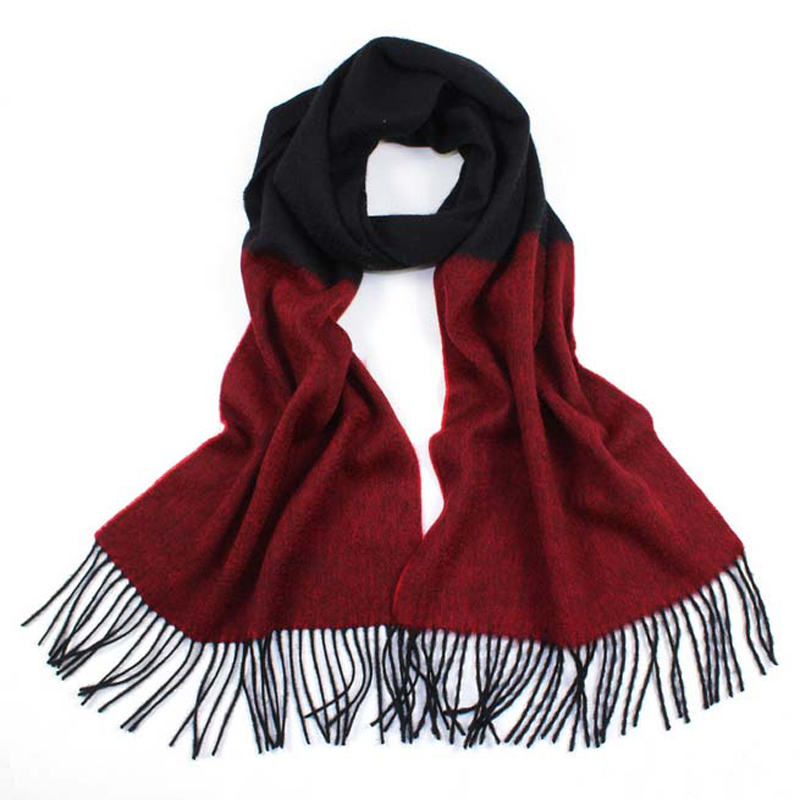 Women cashmere   scarf   winter scarfs   Wrap   Shawl solid Two-tone for lady warm soft   scarves   pashmina foulard Tassel