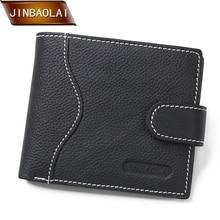 JINBAOLAI 2018 New Design Men Wallets Fashion Leather Bifold Wallet ID Card Holder Coin Purse Brand Design Money Billfold Clutch