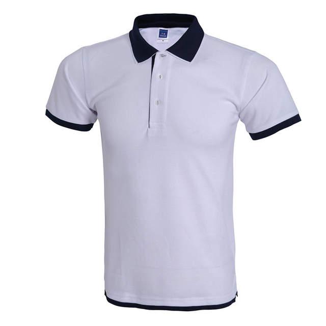 Polo Cool camisa hombre Polo Homme Marca Diseño Doble cuello Color sólido Polos  verano estilo Manga 0fd54379af6b6