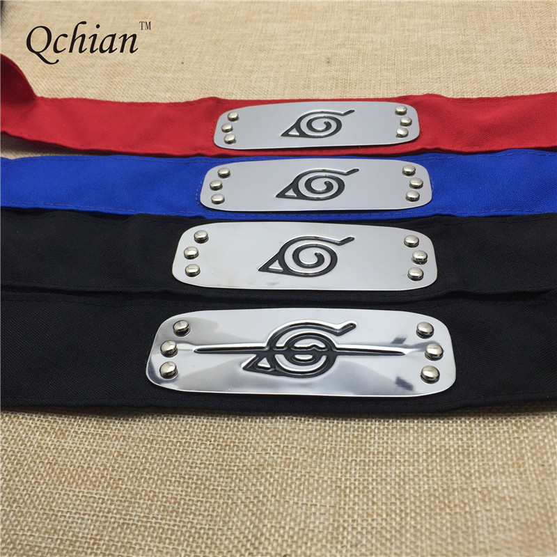 Naruto Black Blue Red Leaf Village Headband for Boys Konoha Uchiha Itachi Kakashi Akatsuki Members Madara headband for Girls