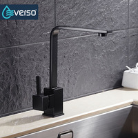 360 Degree Rotating Antique Brass Vintage Kitchen Faucet Cold And Hot Water Tap Kitchen Mixer Kitchen
