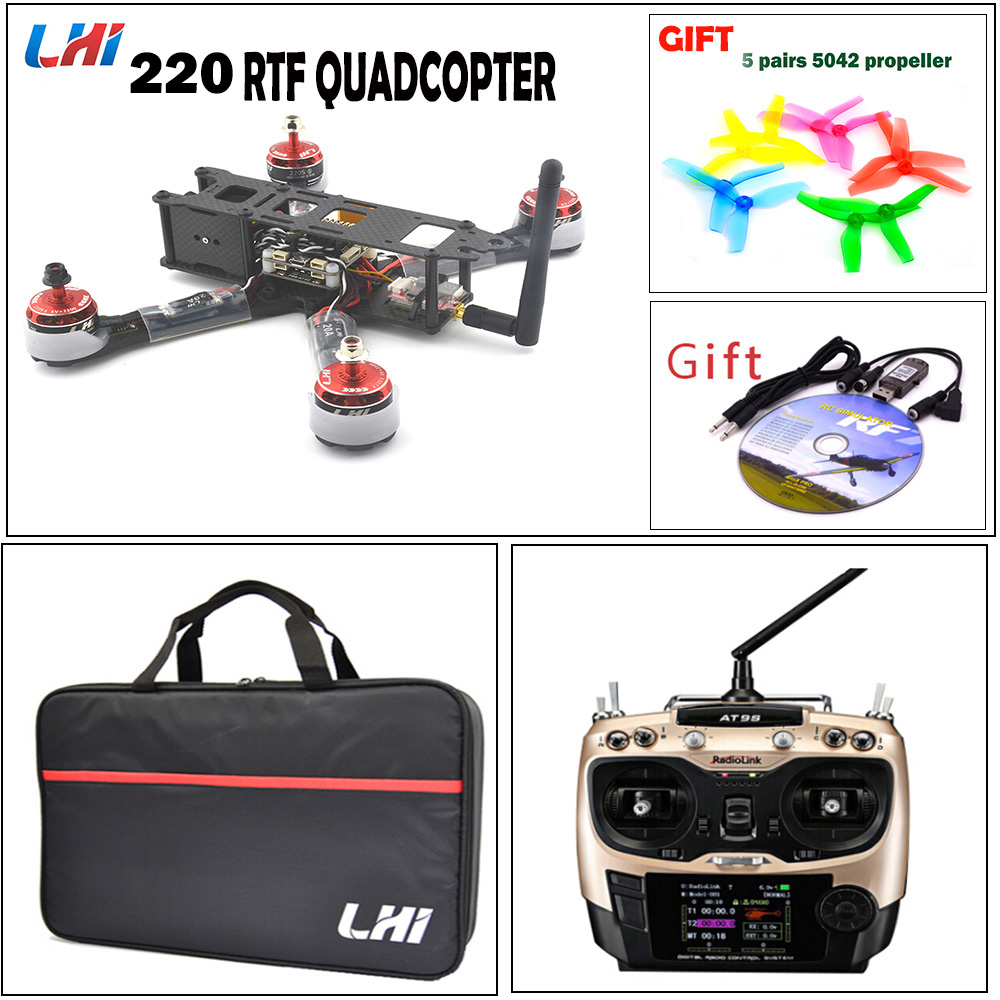 220mm RC quadcopter for F3 flight controller LHI 20A Blheli_S ESC+2205_S Brushless Motor & with camera XT60 X220 frame of Drone m pcp a 14n m ha temperator controller used in good condition